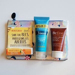 Ipsy Candy Pouch w/ NEW Lip, Hair & Skin Products